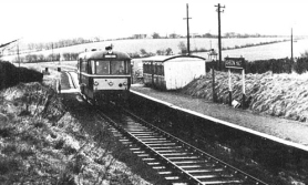 Diesel railcar at Ashdon Halt