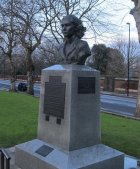 Memorial, Special Operations Executive, Albert Embankment, London, bust of Violette Szabo