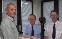 Joe Farman (left), with Brian Gardiner and Jon Shanklin, discovers of the depletion of the ozone layer