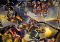 Stanley Spencer, Shipbuilding on the Clyde: Burners, 1940