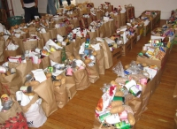 Food bank, operated by charities, for people affected by cuts in welfare benefits