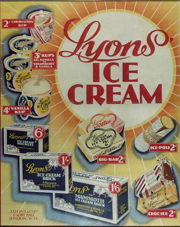 Lyons Ice Cream Cakes In The S