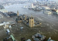 storm surge, rising sea levels, london, flood