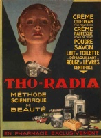France, tho-radia, beauty cream, wrinkles, radium, thorium, radioactive