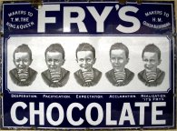 fry's five boys, chocolate, enamelled sign