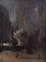 james whistler, artist, falling rocket, river thames, london