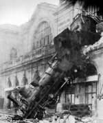 murphy's law, train wreck, montparnasse, paris, france