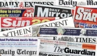 newspaper, title, daily express, daily mail, daily mirror, the sun, the independent, the times, the telegraph, the guardian