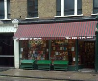 secondhand bookshop, charing cross road, london, uncountable noun