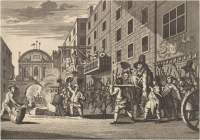 green ribbon club, king's head tavern, fleet street, london, pope-burning, william hogarth