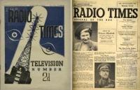 radio times, alexandra palace, transmitter mast, princess elizabeth, queen elizabeth, aircraft carrier eagle