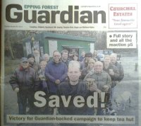 epping forest guardian, tim jones, bikers tea hut, save the tea hut, city of london corporation