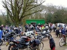brads tea hut, bikers tea hut, motor biker, fairmead road, epping forest
