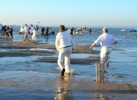bramble bank, sandbank, solent, cricket match, equinoxial tide
