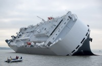 hoegh osaka, car container ship, solent, bramble bank