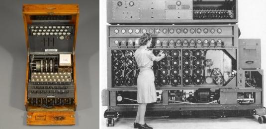 enigma machine, rotor, plugboard, bombe, alan turing, gordon welchman, cryptanalyst, bletchley park