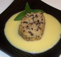 spotted dick, custard, pudding