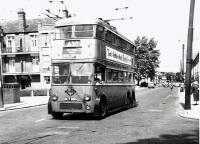 london trolleybus route 630, london transport, lillie road recreation road, hammersmith, fulham palace road, bishop's park road