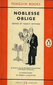 nobless oblige, penguin books, nancy mitford, osbert lancaster