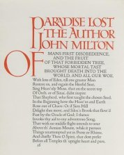 john milton, paradise lost, doves type, doves press