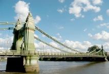 hammersmith bridge, cobden-sanderson, doves type, river thames, joseph bazalgette