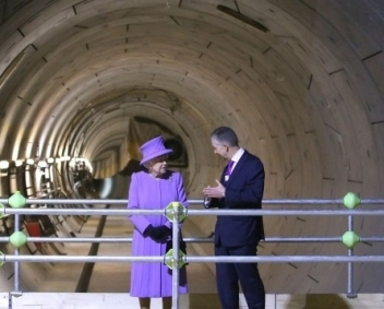 her majesty the queen, mike brown london transport, buckingham palace, bomb shelter, crossrail, elizabeth line, london underground