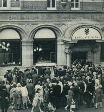 barclays bank enfield, first cash machine in world, reg varney