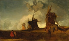 fen drainage mills croyland, john sell cotman, norwich school of painters, wind-powered water pump