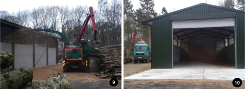 ickworth park, national trust, biomass boiler, wood chipper, wood chip store