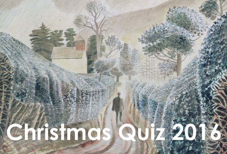 christmas quiz 2016 eric ravilious wet afternoon