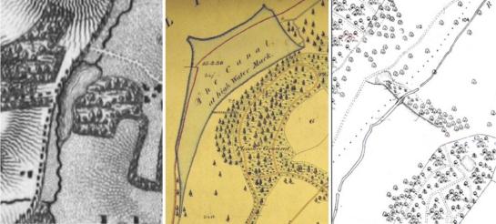 ickworth, river linnet, c & j greenwood 1825, richard payne 1850, ickworth new canal, ickworth park lake