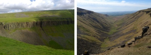 hadrian's wall, great whin sill, high cup nick, high cup gill, u-shaped valley