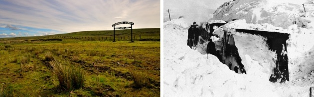 british transport film, bleath gill, snowdrift at bleath gill, snowbound train, stainmore summit