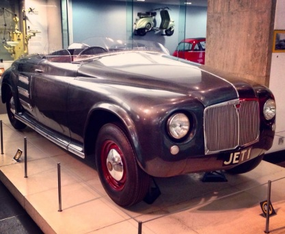 exhibition road, gas turbine powered car, rover jet1, science museum, south kensington